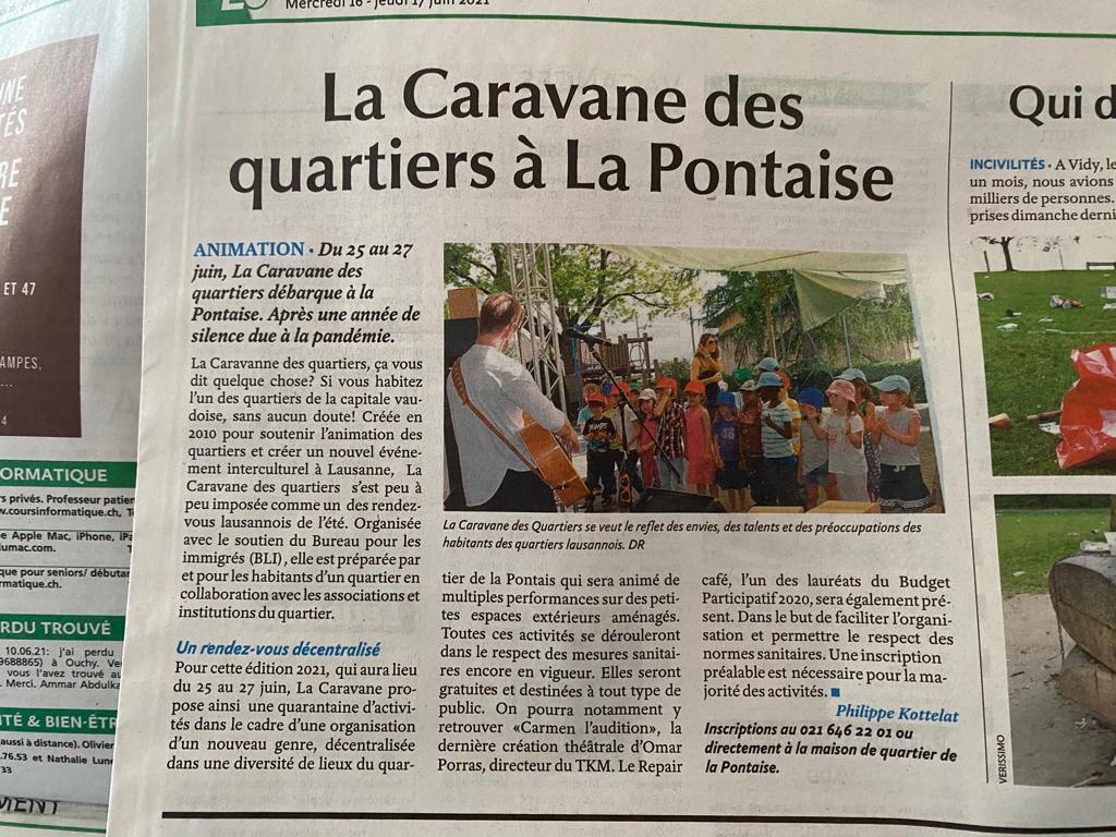 Le projet Repair Café Lausanne - La Caravane à la Pontaise